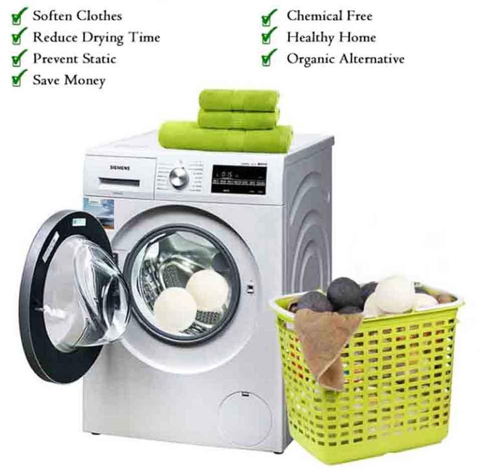 3 wool laundry balls