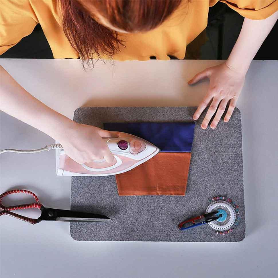 4 wool ironing mat