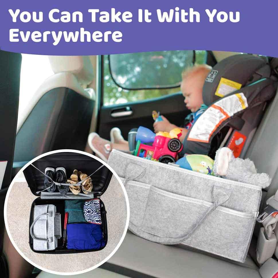 Baby Diaper Caddy Organizer 04 application in car