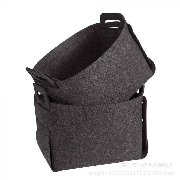 felt basket dark gray 2