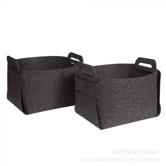 felt basket dark gray 3