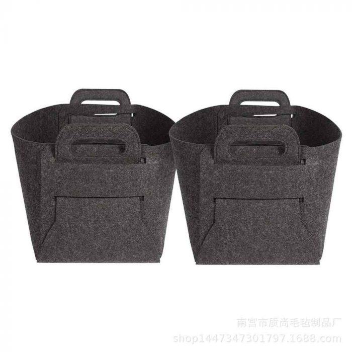 felt basket dark gray 4