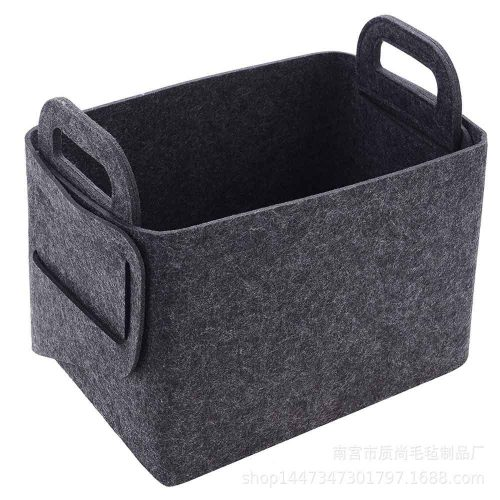 felt basket dark gray