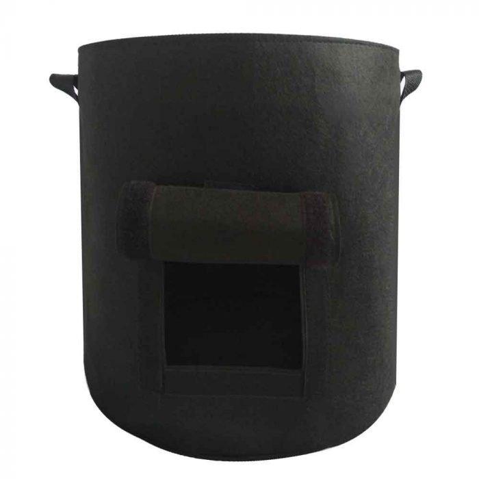 felt grow bags Black