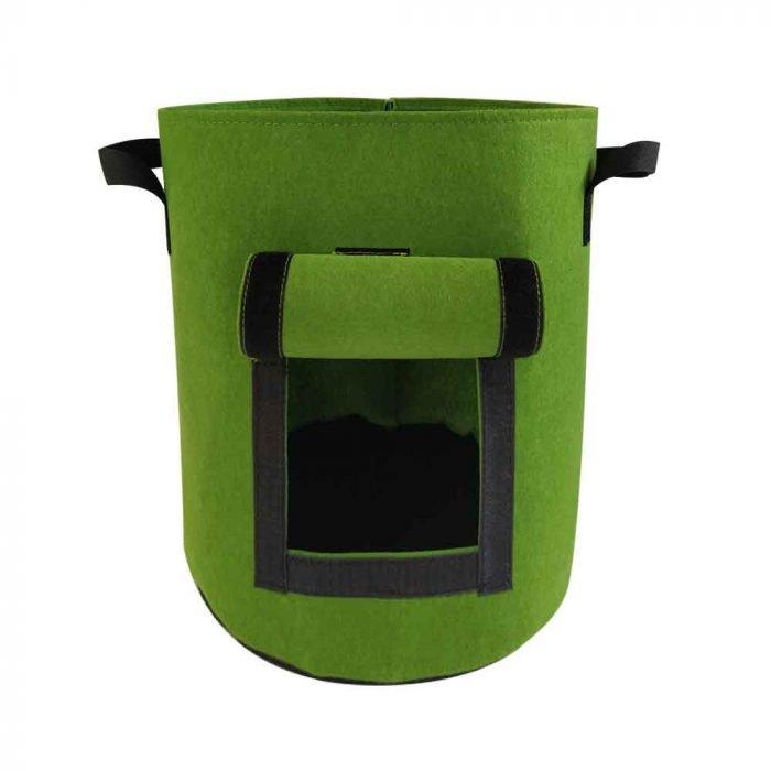 felt grow bags Green