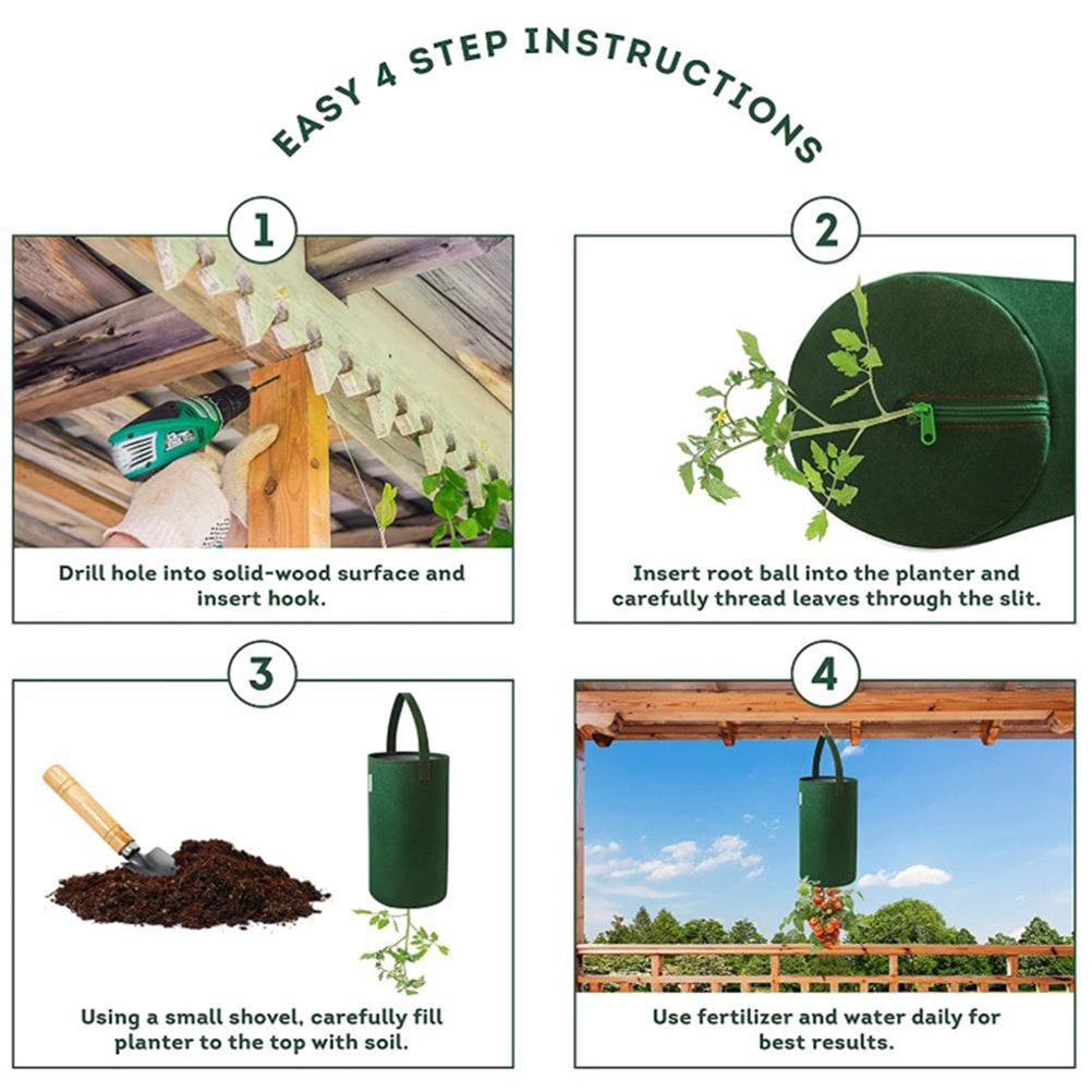 2 Multifuntion Grow Bags in Green Color
