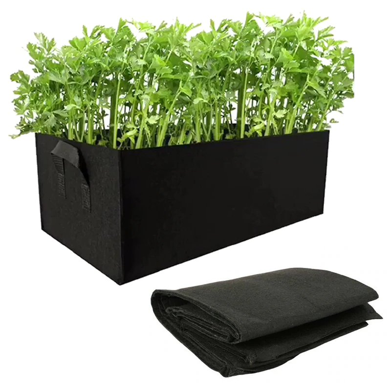 Set of 5 Non-Woven Gardening Beds in Square