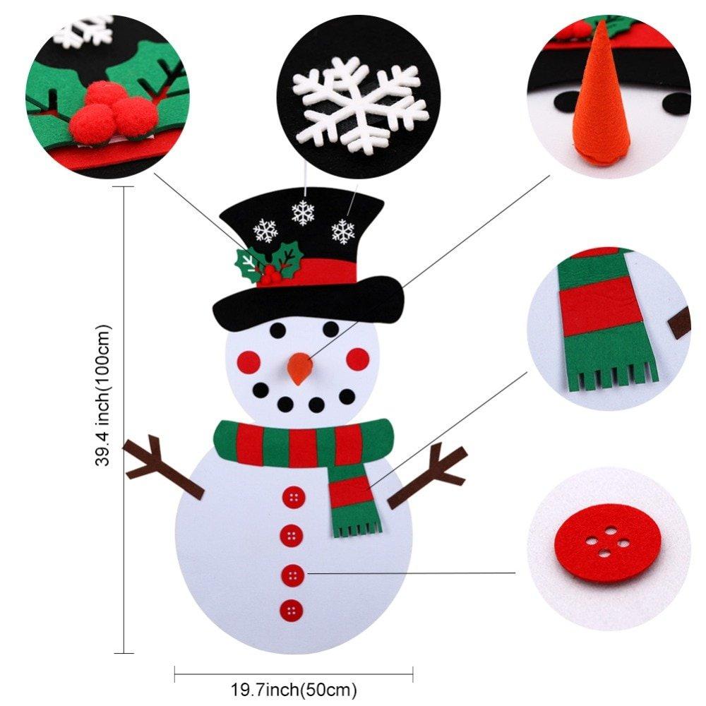 DIY Felt Christmas Snowman Toy for Kids
