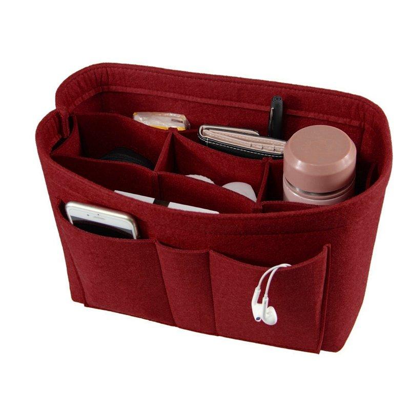 Portable Multi-Functional Felt Cosmetic Bags
