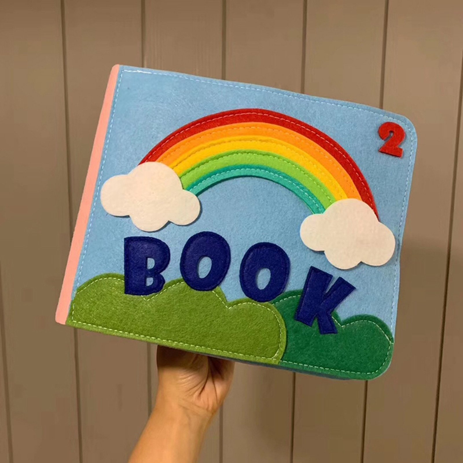 Felt Quiet Books Boys and Girls, Ultra Soft Baby Book Touch and feel Cloth Book, 3D Books Fabric Activity for Babies Toddlers