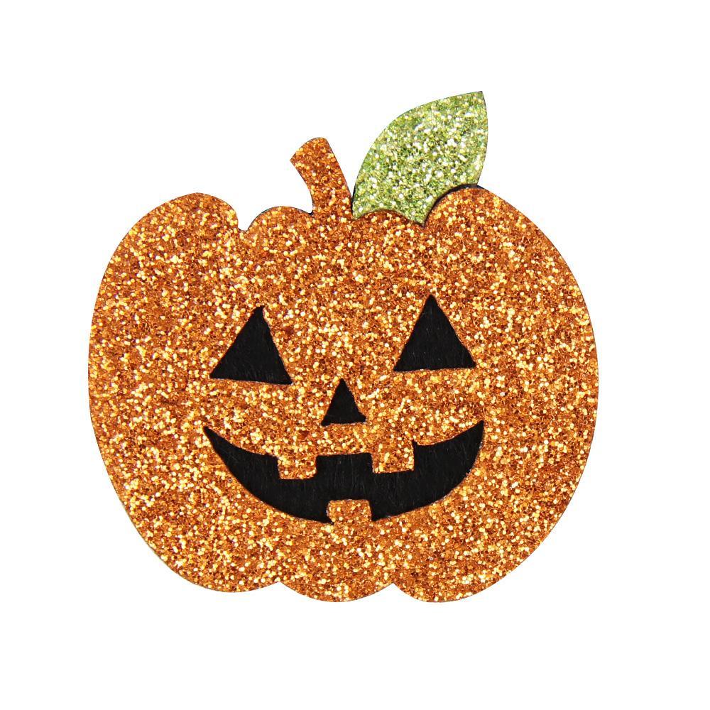 IBOWS 10pcs/Bags Non-woven Ghost Pumpkin Patches Glitter Felt Halloween Holiday DIY Cloth Decoration Children Crafts Materials