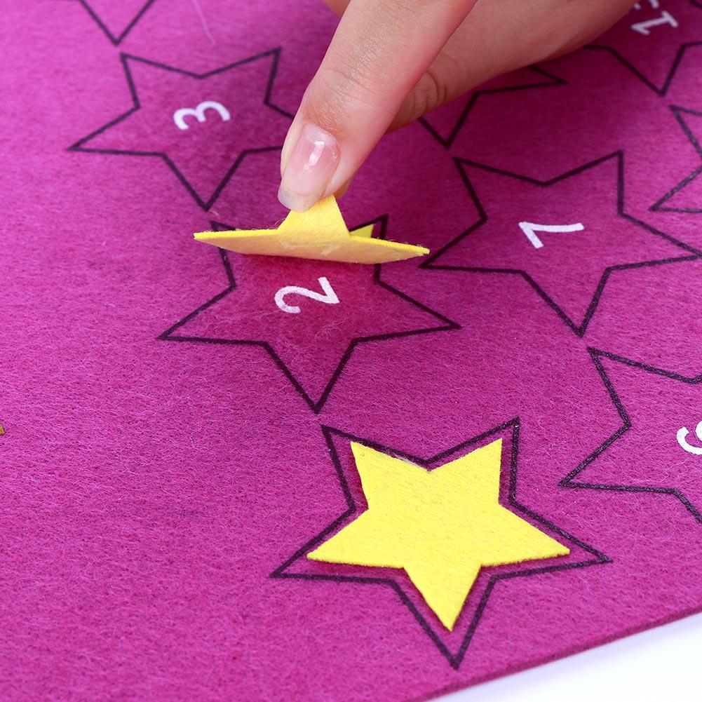 Newest Eid Mubarak 30days Advent Calendar Hanging Felt Countdown Calendar for Kids Gifts Ramadan Party Decorations Supplies
