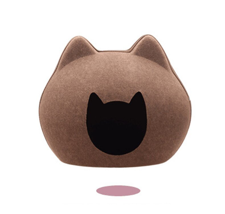 Pet Dog Bed House Cat Cave Sleeping Bag Detachable Natural felt Cats Beds Breathable Cave With Cushion for Cats Pet Product