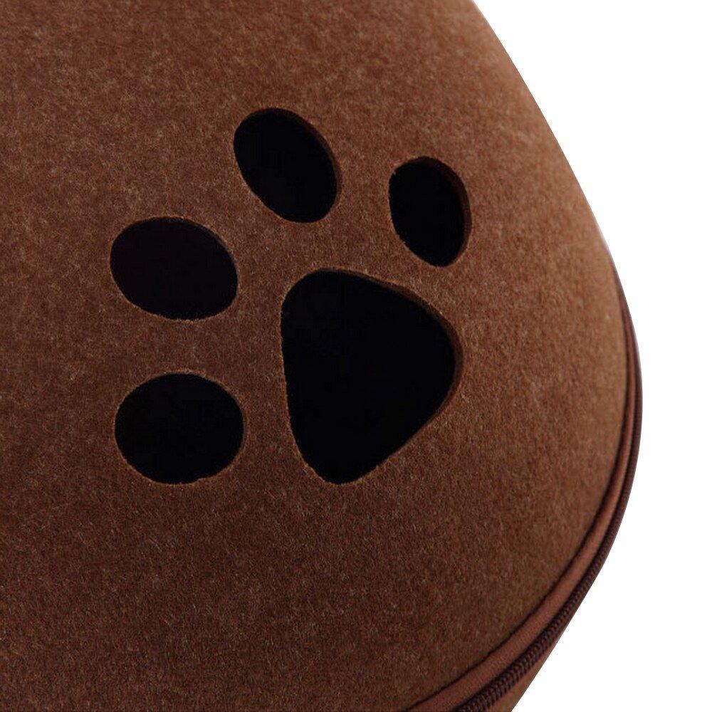 Cat House Nest With Zipper Detachable Cushion Dog Mat Egg Shape Dog Kennel Cat Bed Felt Cloth Cats Cave Sleeping Mat Pet Bed