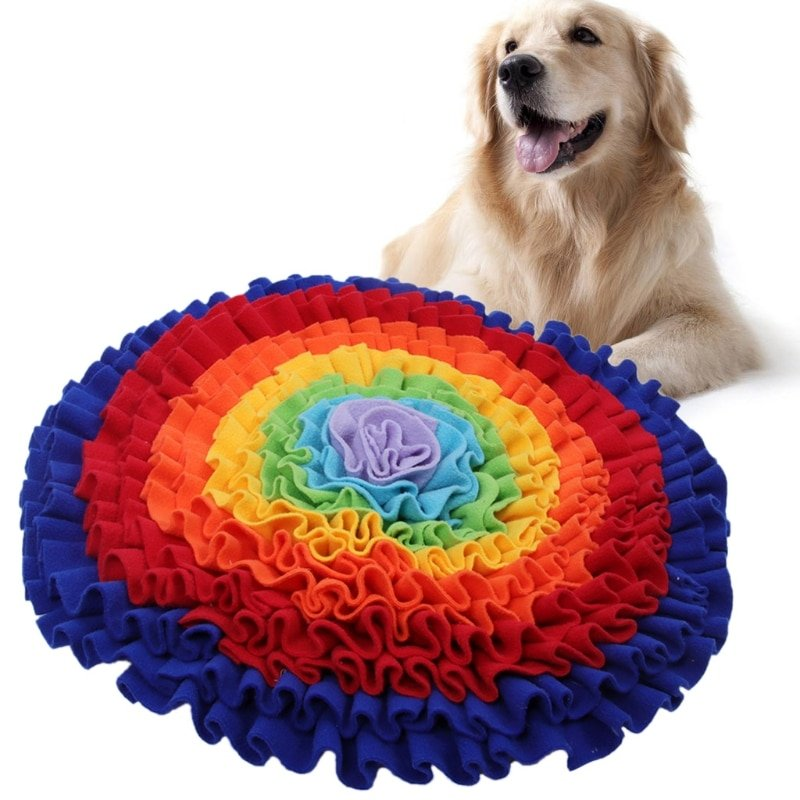 Snuffle Mat for Pet Dogs Slow Feeding Mat Food Dispensing Dog Sniffing Treat Foraging Training Pad Puppy Puzzle Toys Pet Supply